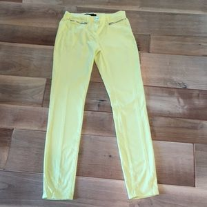 3X1 Pale Yellow Skinny Jeans Size 28